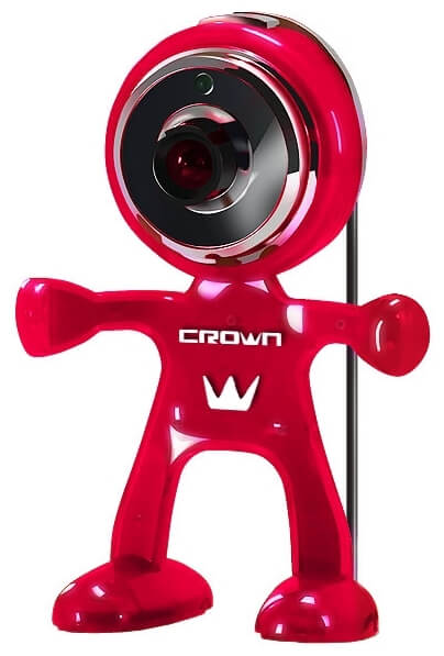 Веб камера CROWN CMW-329 red